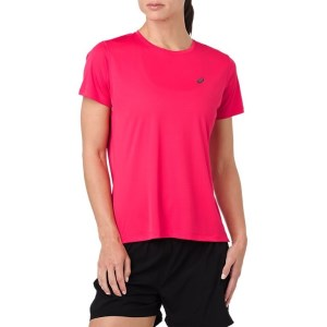 Asics Silver Womens Short Sleeve Running T-Shirt