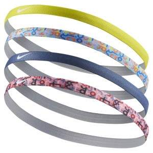 Nike Print Kids Girls Headbands - Assorted 4 Pack