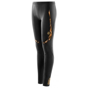 Skins A400 Youth Compression Long Tights (2016) - Black/Gold