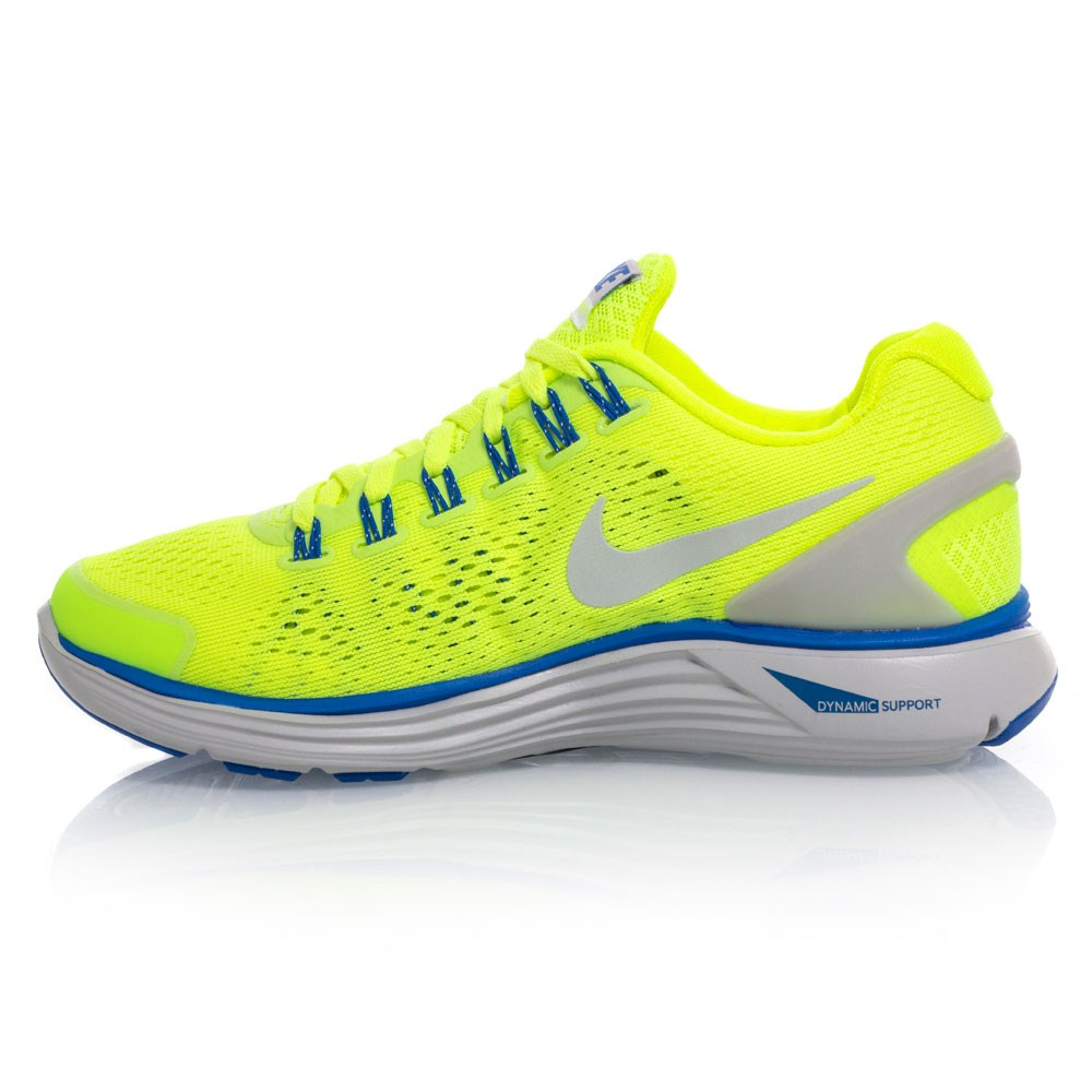 038d1c405bac ... new zealand nike lunarglide 4 gs junior boys running shoes yellow blue  c49c4 878f9
