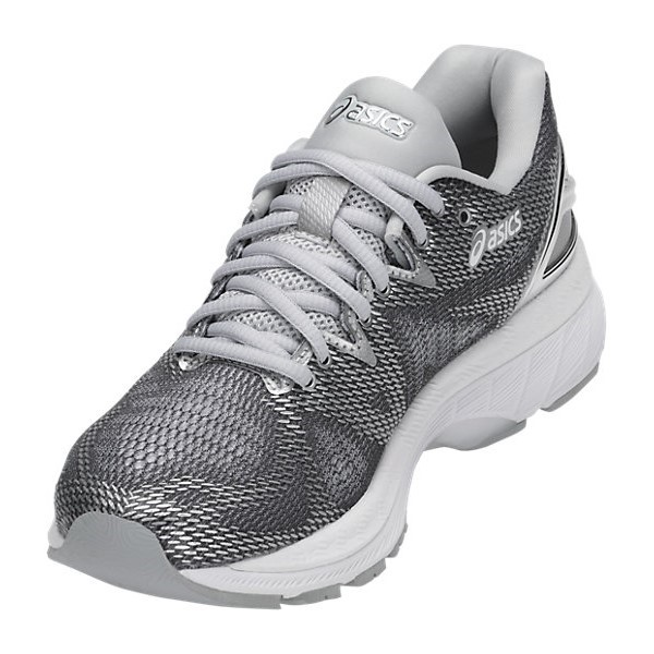 Asics Gel Nimbus 20 Platinum - Womens Running Shoes - Carbon Silver White 0ebd6004d