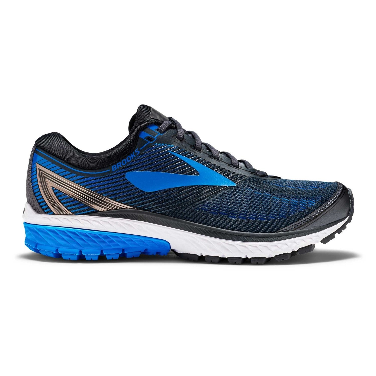 89d4e2f54acbf Brooks Ghost 10 - Mens Running Shoes - Metallic Charcoal Brooks Blue ...