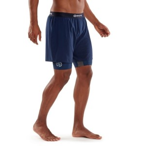 Skins DNAmic Superpose Mens Compression Half Tights With Shorts