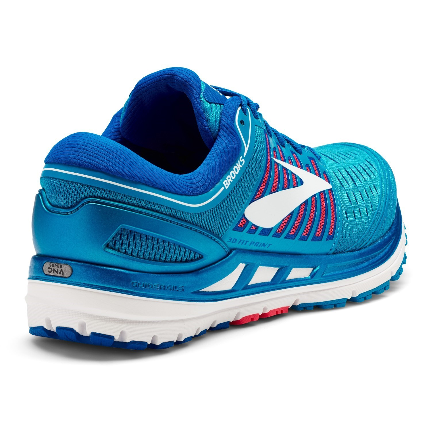 b05cb6f79ef Brooks Transcend 5 - Womens Running Shoes - Blue Pink White