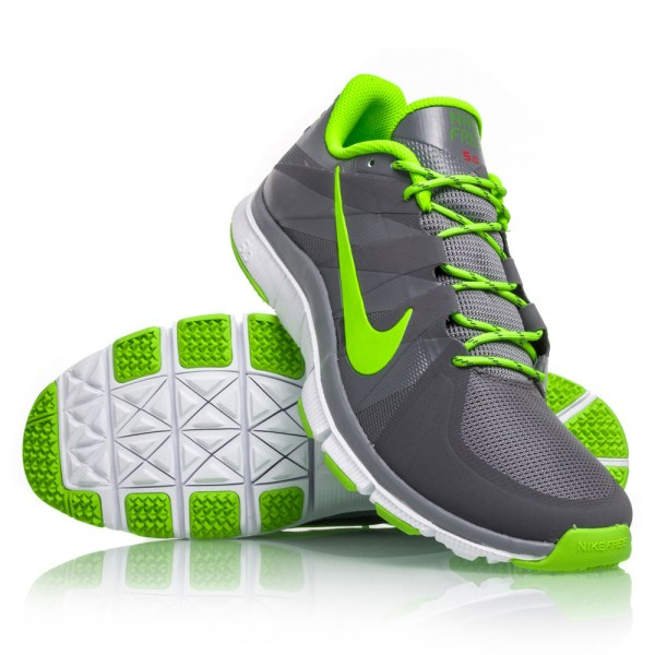 best website 87de8 26c27 Nike Free Trainer 5.0 - Mens Running Shoes - Grey Electric Green White