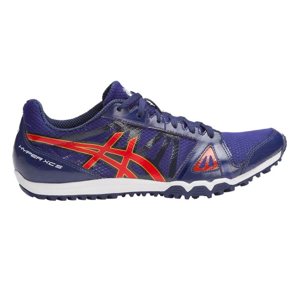 Asics Hyper XCS - Mens Waffle Racing Shoes - Estate Blue/Vermilion/Rich Gold