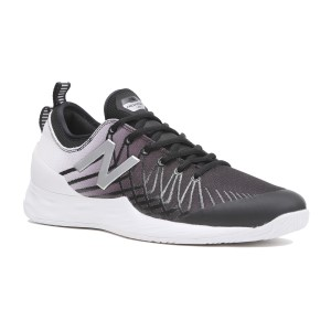 New Balance Fresh Foam Lav - Mens Tennis Shoes - Black/White/Silver