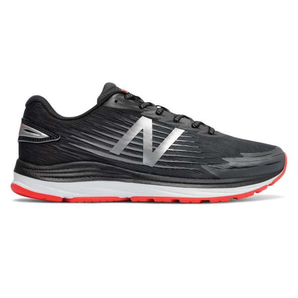 New Balance Synact - Mens Running Shoes - Black/Silver/Red