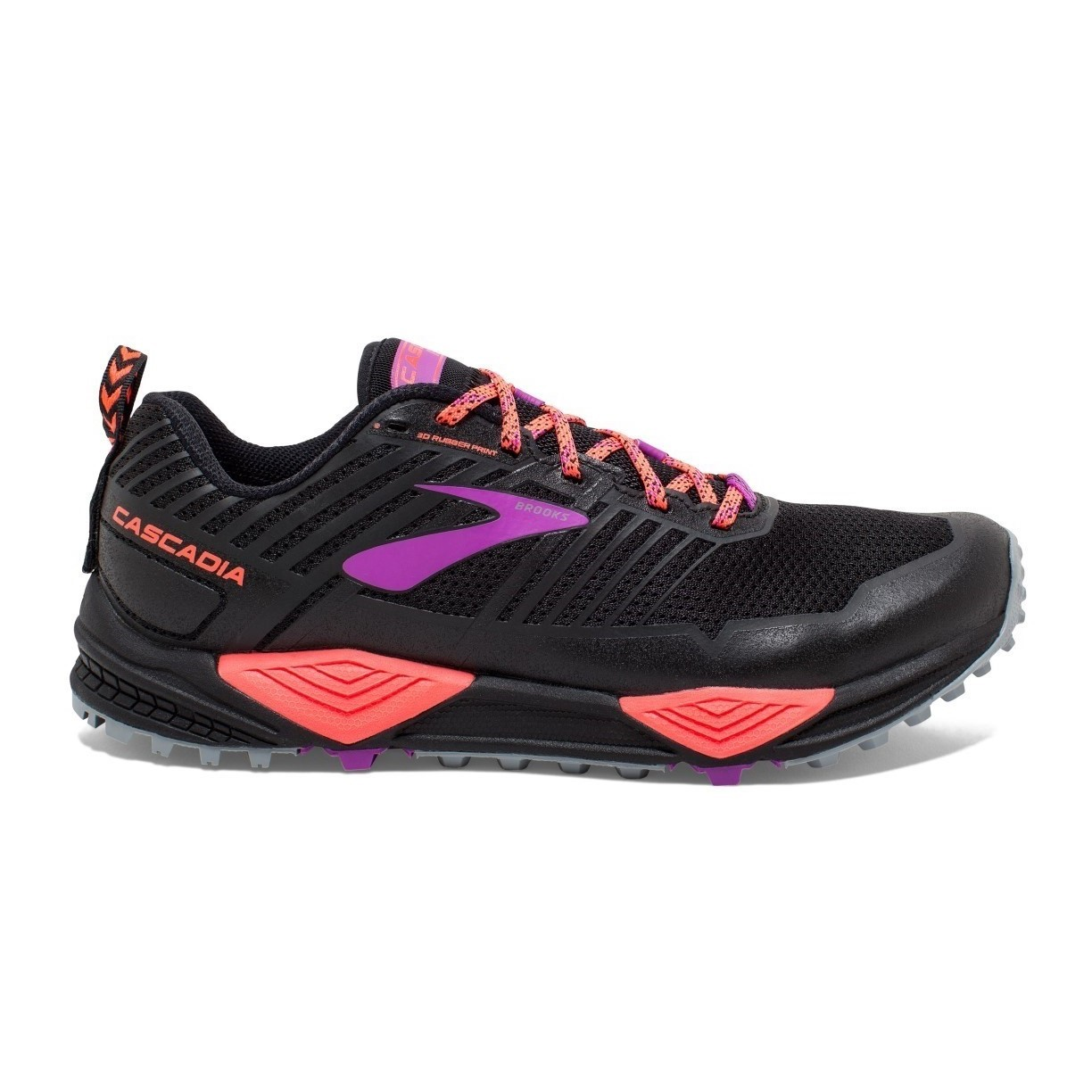 buy popular 60678 6249a Brooks Cascadia 13 - Womens Trail Running Shoes - Black Coral Purple