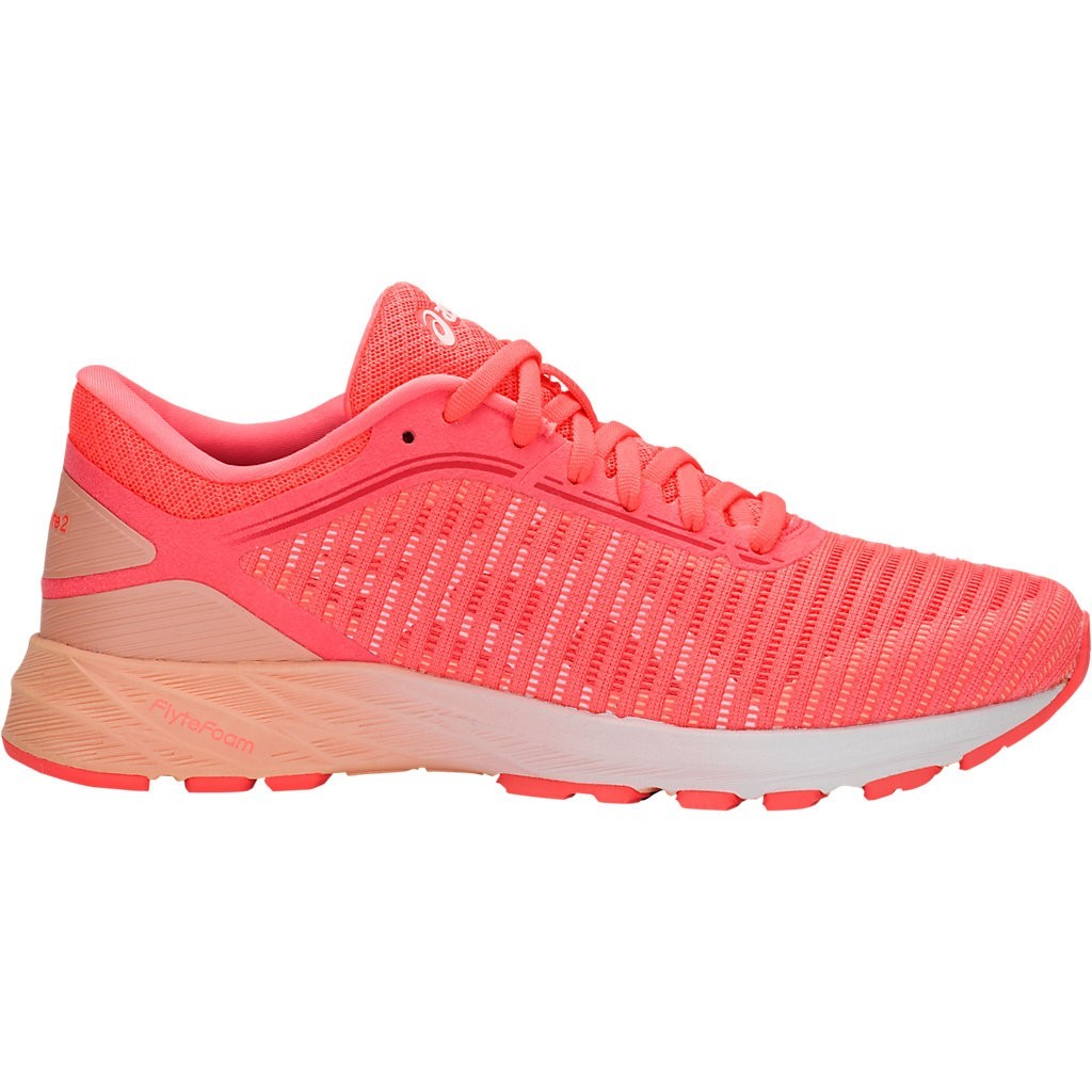 60e0f017a743 Asics DynaFlyte 2 - Womens Running Shoes - Flash Coral White Apricot ...