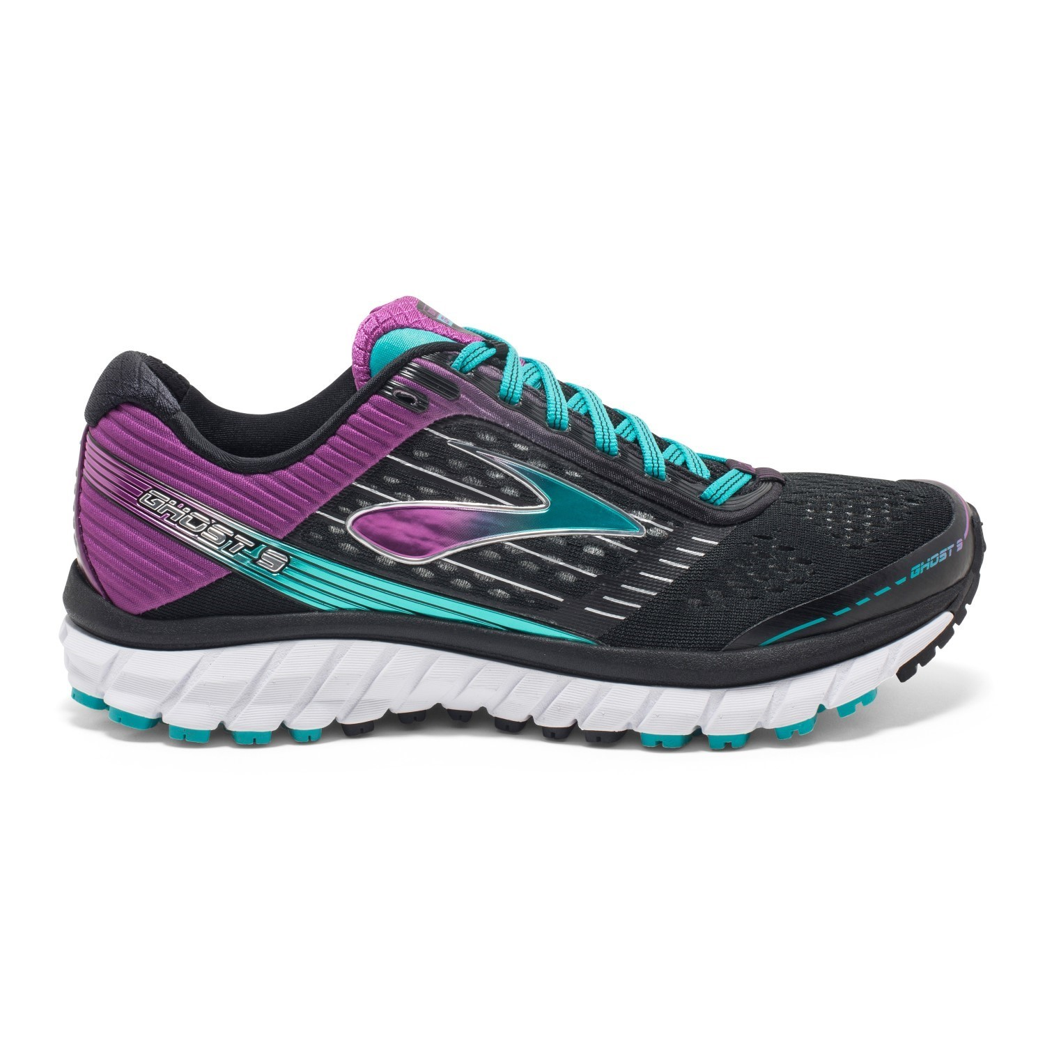 7a757cb77aa4 Brooks Ghost 9 - Womens Running Shoes - Black Sparkling Grape Ceramic
