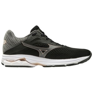 Mizuno Wave Rider 23 - Womens Running Shoes - Black/Dark Shadow/Champagne