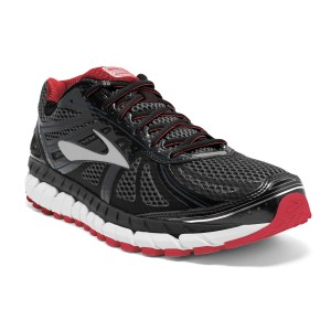 Brooks Beast 16 - Mens Running Shoes - Black/Red/Silver