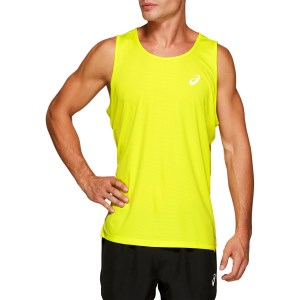 Asics Silver Mens Running Tank Top