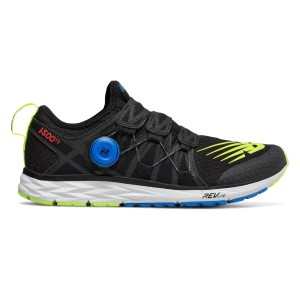 New Balance 1500v4 - Mens Running Shoes - Black/Hi Lite Yellow/Maldives Blue