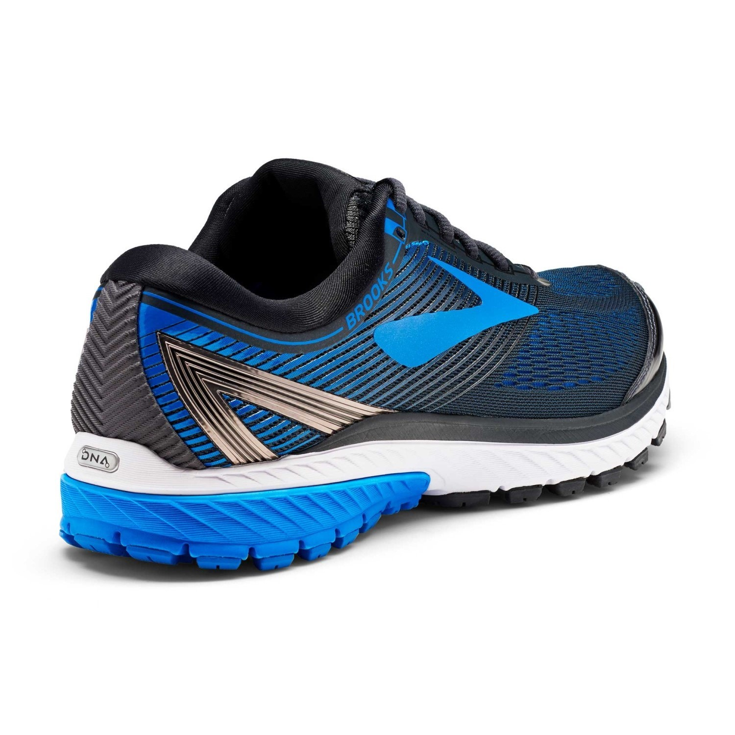 48e04872ed7 Brooks Ghost 10 - Mens Running Shoes - Metallic Charcoal Brooks Blue ...