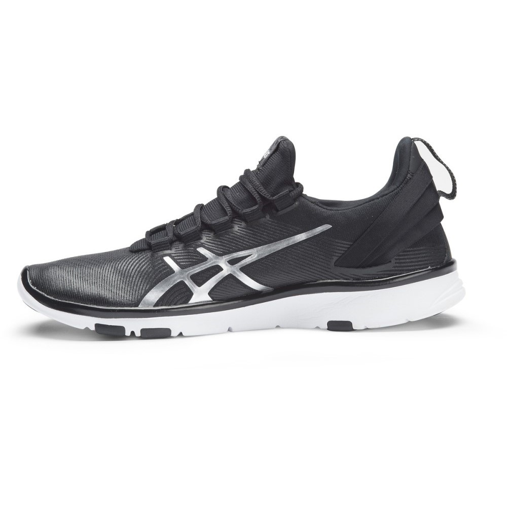 asics gel fit sana black and white