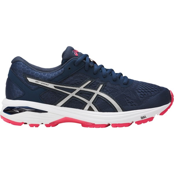 Asics GT-1000 6 (D) - Womens Running Shoes - Insignia Blue/Silver/Rouge Red