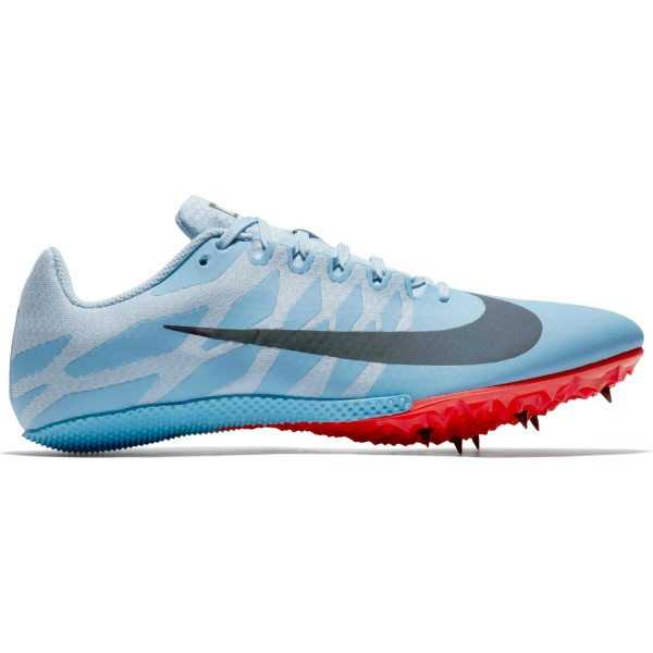 Nike Zoom Rival S 9 - Unisex Sprint Spikes - Football Blue/Ice Blue/Bright Crimson