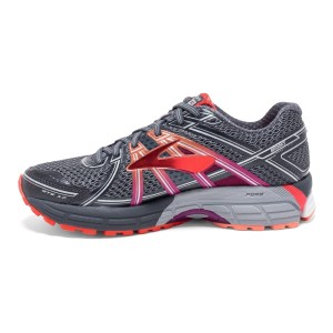 Brooks Adrenaline GTS 17 - Womens Running Shoes - Anthracite/Festival Fuchsia