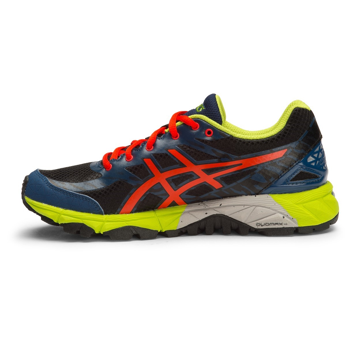 asics gel fuji trabuco 5 gs kids boys trail running shoes black flame orange poseidon online. Black Bedroom Furniture Sets. Home Design Ideas
