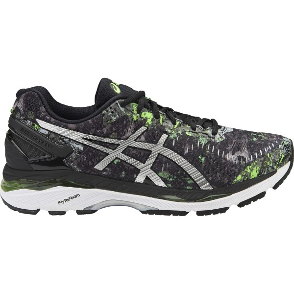 pretty nice 93388 34b7d Asics Gel Kayano 23 Limited Edition - Mens Running Shoes - Black  Silver Green