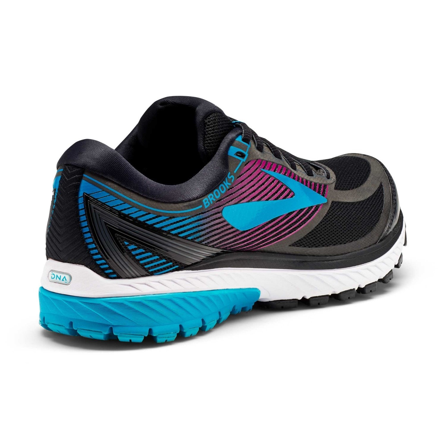 2ef0e24e9ec Brooks Ghost GTX 10 - Womens Running Shoes - Black Peacock Purple Hollyhock