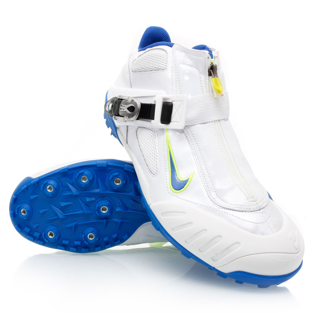 3b5df0cbce72 Nike Zoom Javelin Elite - Mens Track and Field Shoes - White Blue Yellow
