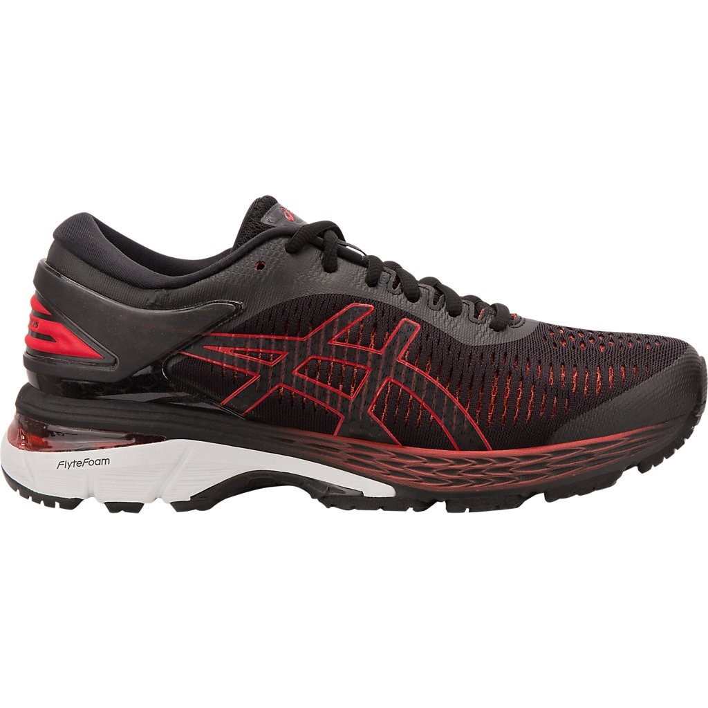 check out f1ebf 6a51f Asics Gel Kayano 25 - Womens Running Shoes - Black Classic Red