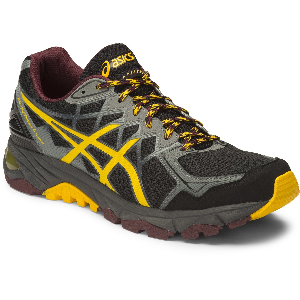 asics gel fuji trabuco 4 neutral mens trail running shoes black spectra yellow royal. Black Bedroom Furniture Sets. Home Design Ideas