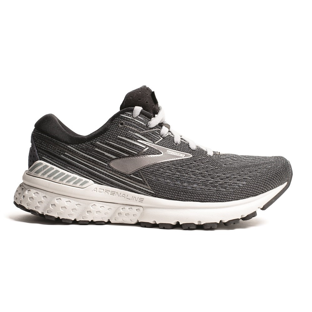 3d5635f1f Brooks Adrenaline GTS 19 - Womens Running Shoes - Black Silver Grey ...