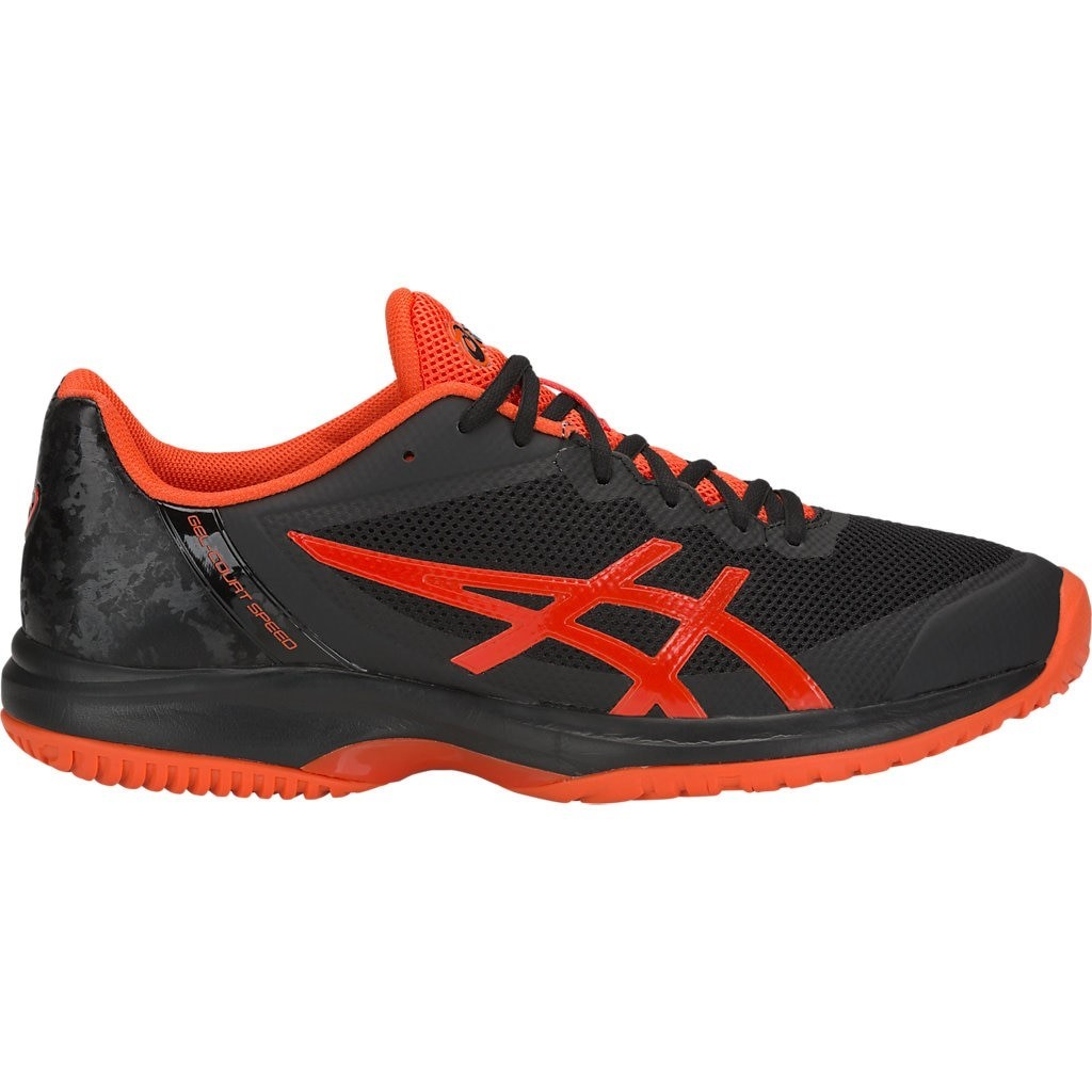 53b96471d15cf Asics Gel Court Speed - Mens Tennis Shoes - Black Cherry Tomato ...