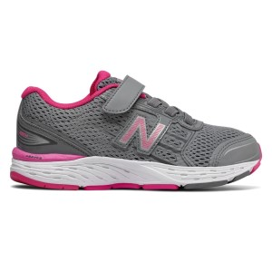 New Balance 680v5 Velcro - Kids Girls Running Shoes