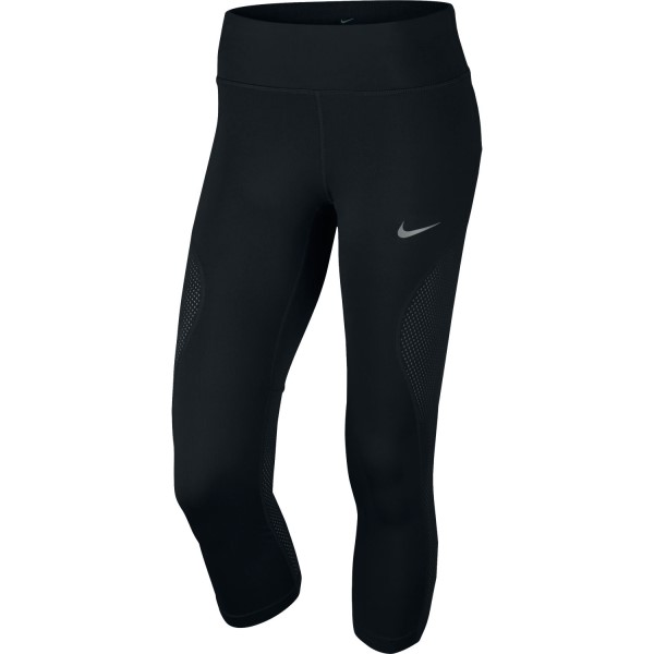 Nike Power Racer Womens Running Crop 3/4 Tights - Black