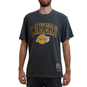 Mitchell & Ness Los Angeles Lakers Vintage Keyline Logo NBA Mens Basketball T-Shirt