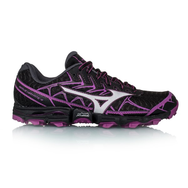 Mizuno Wave Hayate 4 - Womens Trail Running Shoes - Black/Shadow/Clover