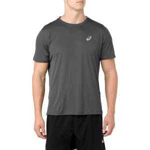 Asics Silver Mens Short Sleeve Running T-Shirt