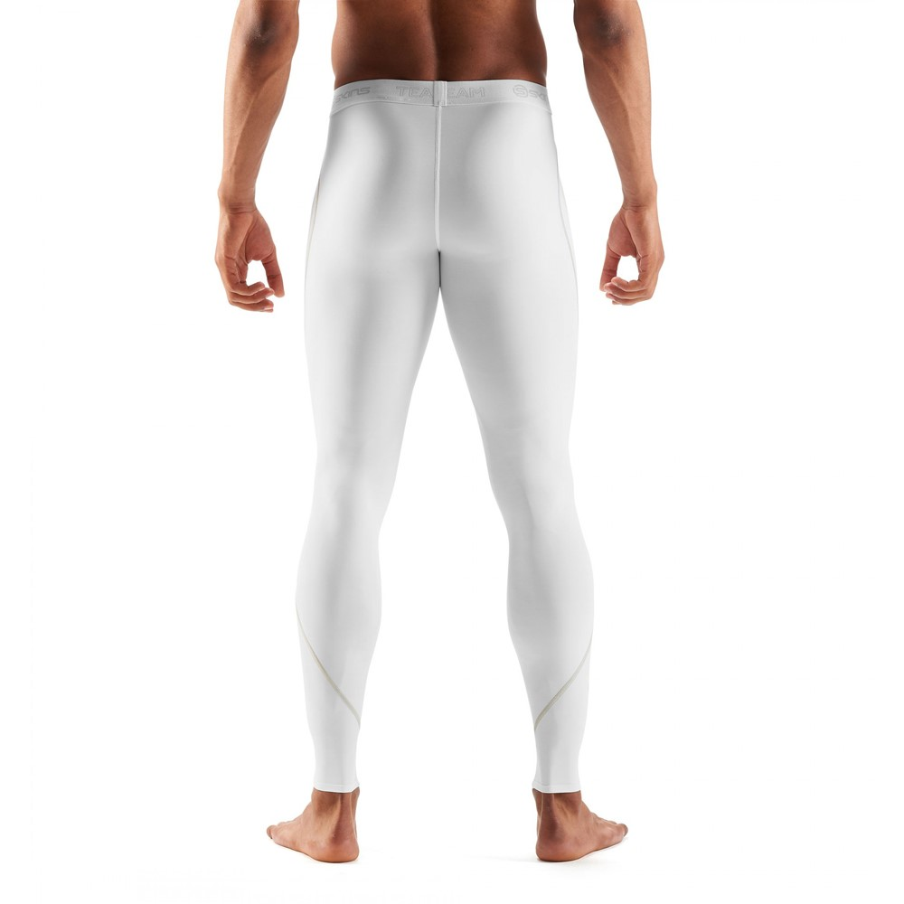 c59a063cc8 Skins DNAmic Team Mens Compression Long Tights - White | Sportitude