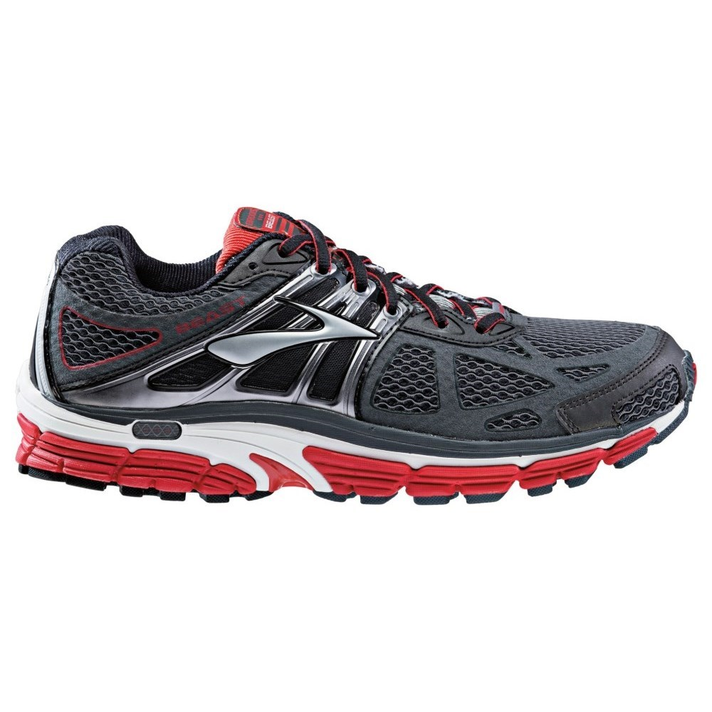 If you're a guy seeking superior motion control and support then the Brooks Beast men's running shoes are a great match for your feet. These runners help to manage overpronation and give low and flat arched feet ongoing comfort.