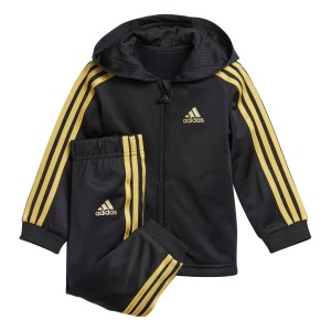 Adidas Shiny Little Kids Hooded Jogger Set