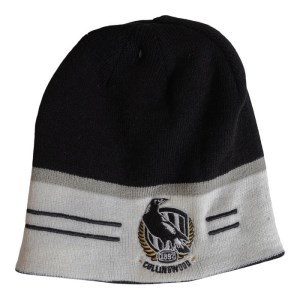 Burley Sekem Collingwood Magpies AFL Reversible Football Beanie