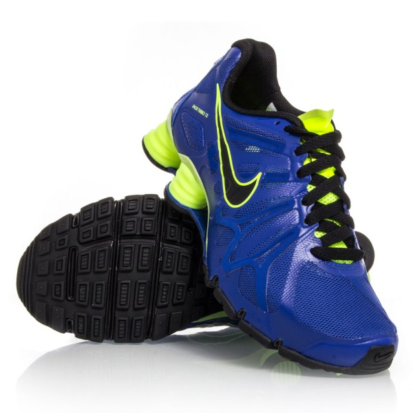 buy popular 68175 e5aa9 Nike Shox Turbo 13 GS - Kids Boys Running Shoes - Blue Yellow Black