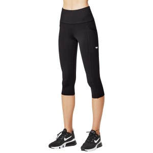 Running Bare Power Moves Ab Waisted Supplex Womens 3/4 Training Tights