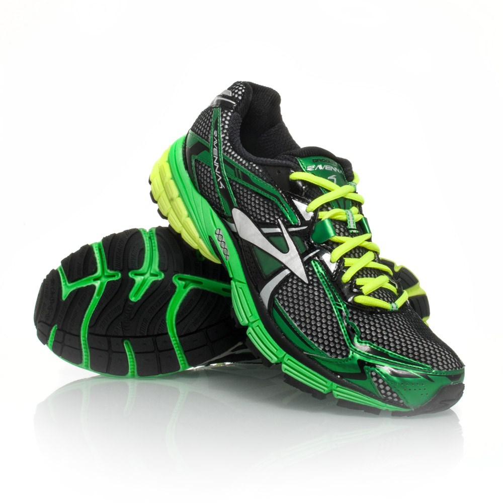 b9aeabb787b54 Brooks Ravenna 4 - Mens Running Shoes - Black Toucan Green Silver ...