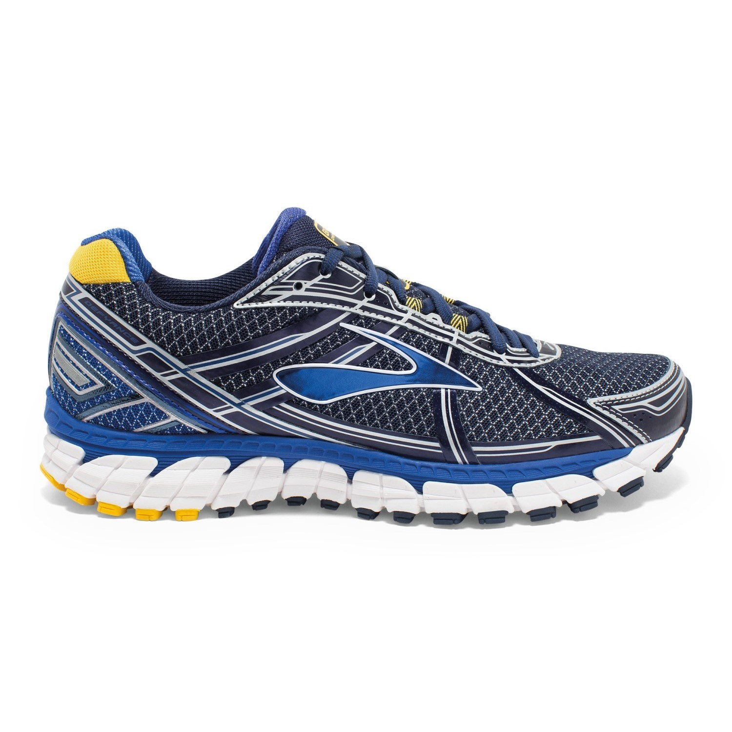 862dc605ccb Brooks Defyance 9 - Mens Running Shoes - Peacoat Surf The Web Lemon ...