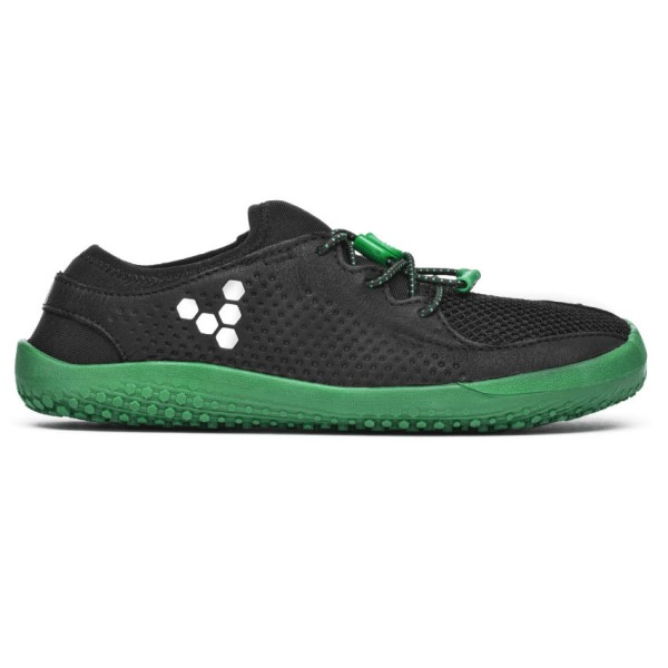 Vivobarefoot Primus Mesh Kids Boys Running Shoes - Black/Green