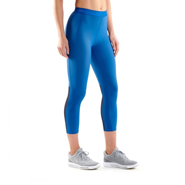 Skins DNAmic Womens Compression 7/8 Tights - Royal