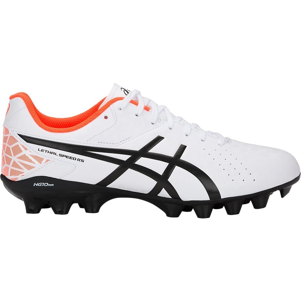 967e6c0f63df Asics Lethal Speed RS - Mens Football Boots - White Black Orange ...