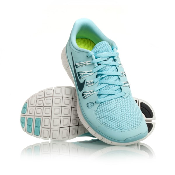 super popular 7d9b9 027c4 Nike Free 5.0+ - Womens Running Shoes - Ice Blue White