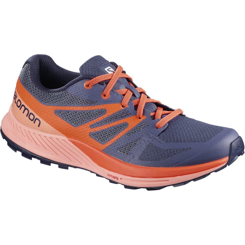 b676adade2dc Salomon Sense Escape - Womens Trail Running Shoes - Crown Blue Coral  Almond Nasturtium